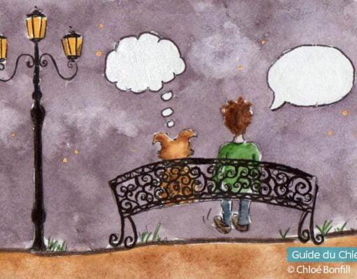 Parler avec son chien etrange
